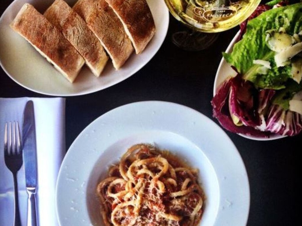 Various dishes at 1889 Enoteca
