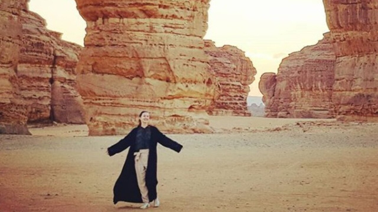 What it's really like as a tourist in Saudi Arabia. Picture: Instagram/@alexismariecarey