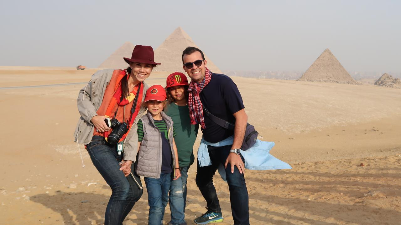 The young family now spend four months of every year travelling the world.
