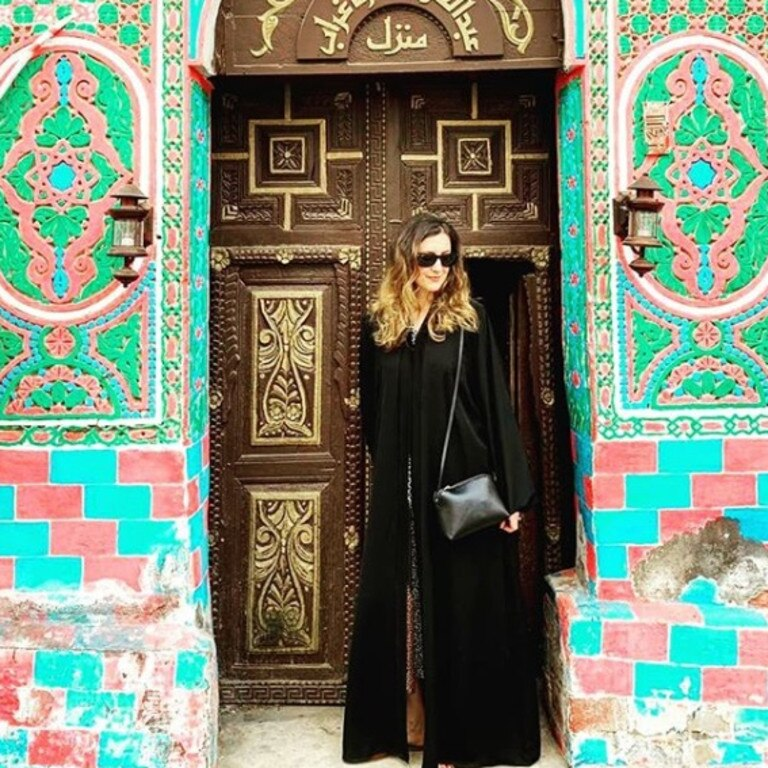 Most women wear the traditional abaya, although it's not required for foreigners. Picture: Instagram/@alexismariecarey