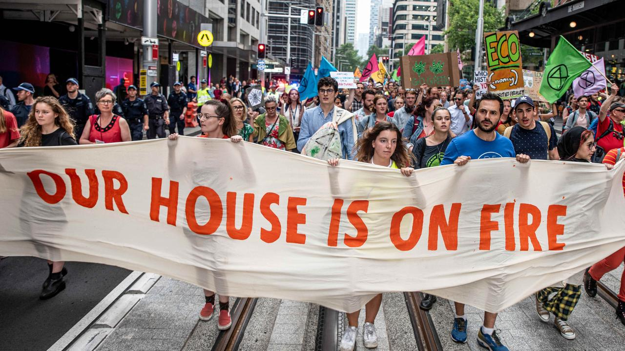 Extinction Rebellion protesters are risking their end goal in taking such an extreme approach. Picture: Daily Telegraph/Flavio Brancaleone