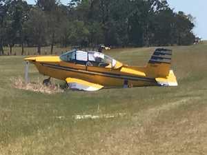 VIDEO: Two people on board emergency Kybong plane landing