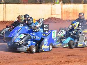 Kart Kaos at Maryborough Speedway