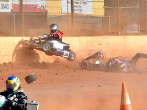 Thrills and spills: Maryborough crown  State speedway karting champions