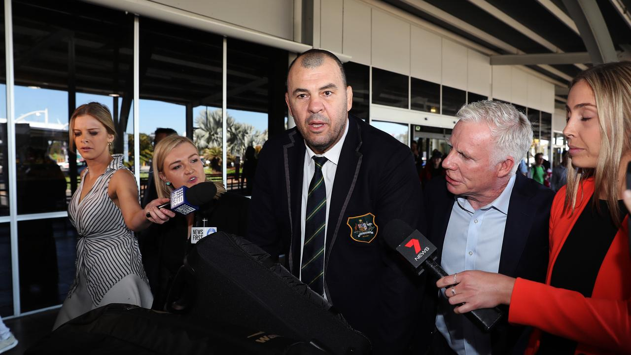 Michael Cheika's reign as Wallabies coach is over. Picture: Brett Costello