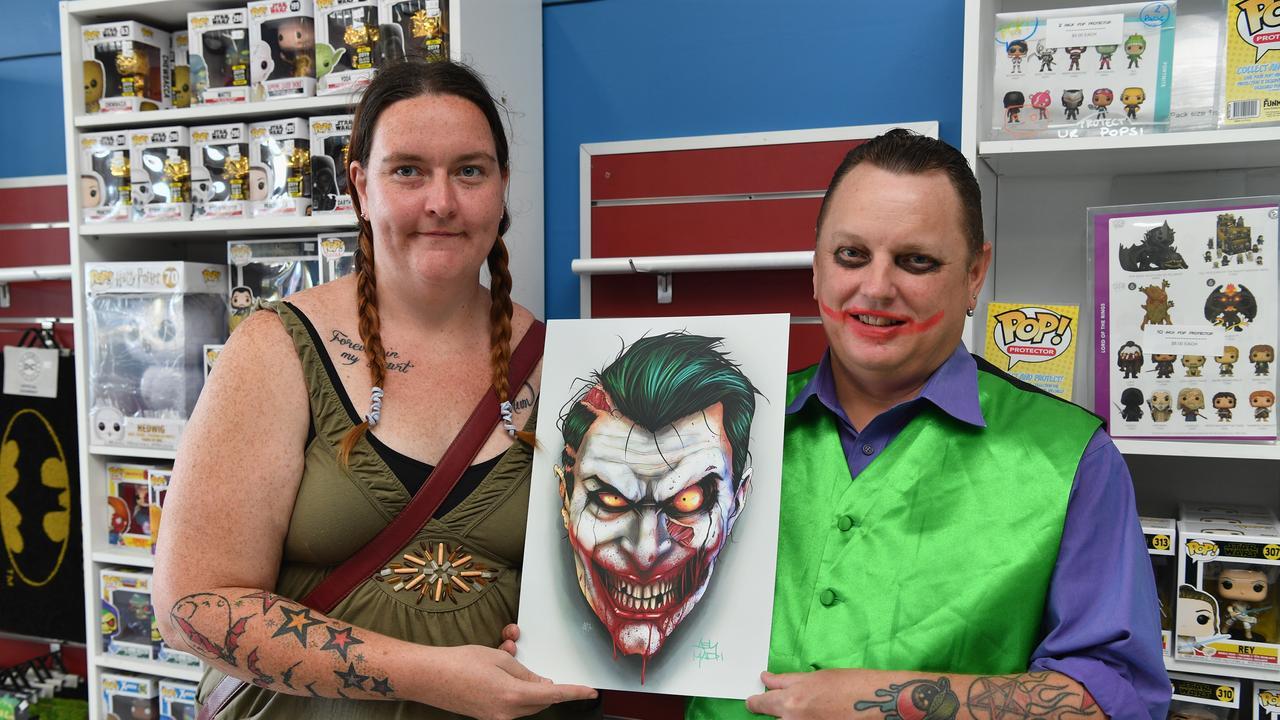 Halloween Comic Fest - Tamara Weir and the Joker, Jamie Connor from Hervey Bay.