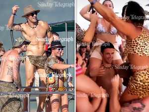 Sam goes wild: Burgess strips down and parties in Mexico