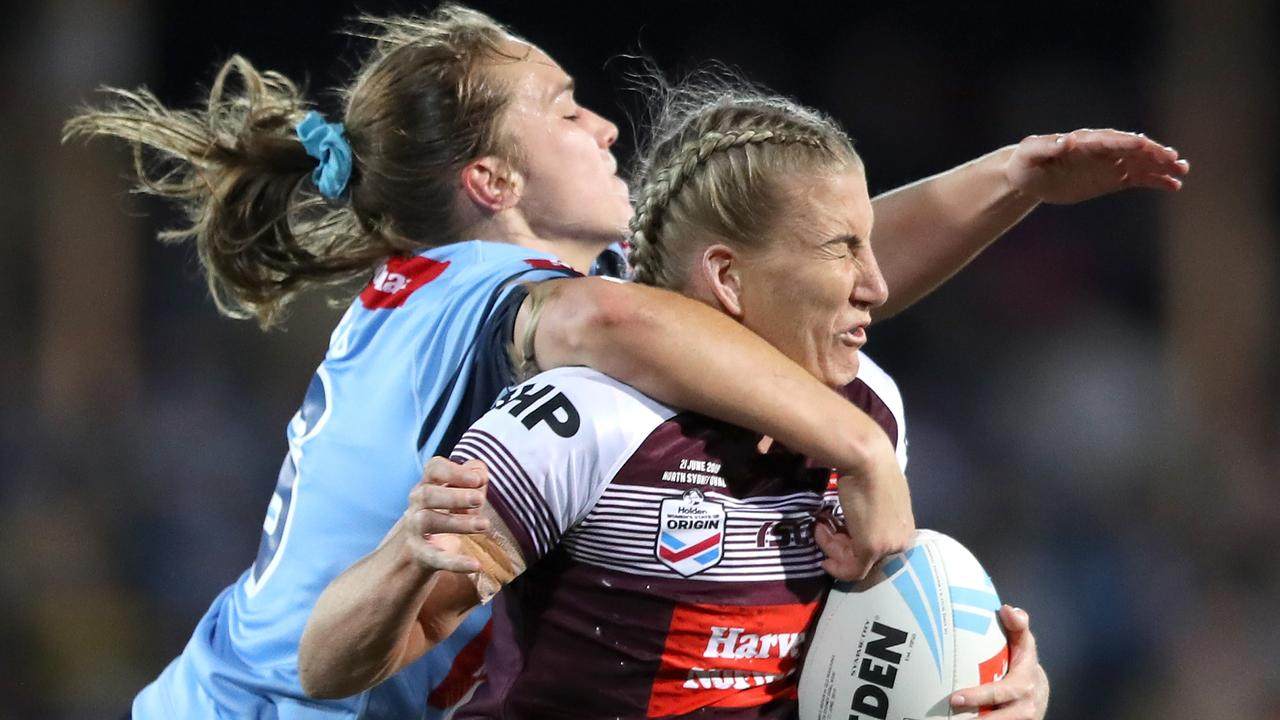 KEY PLAYER: Ali Brigginshaw in action for Queensland during the Women's State of Origin game in North Sydney this year. The match will be played on the Sunshine Coast next year. Photo: Marke Kolbe/Getty Images.