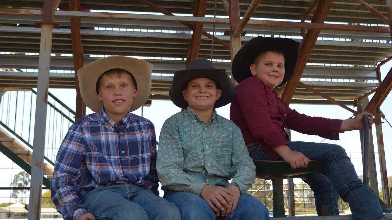 BIG EVENTS BOOST REGION: Rhys Bond, Jackson Bateman, and Bryce Bateman eagerly watch the Warwick campdraft