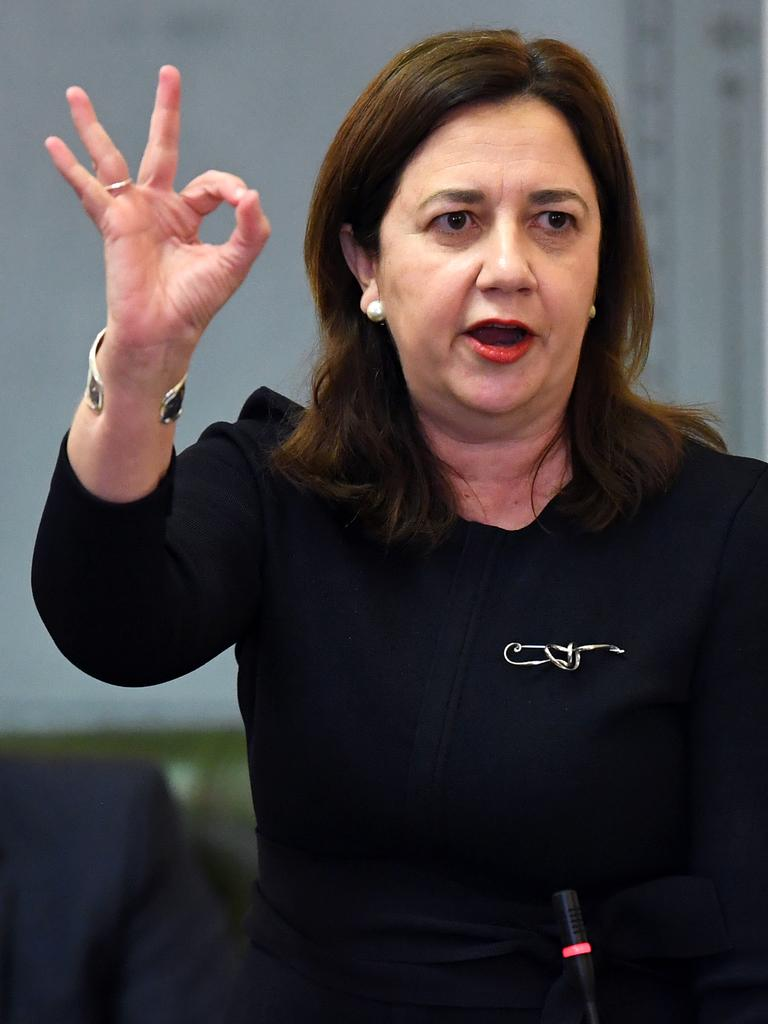 Premier Annastacia Palaszczuk will not give a guarantee any laws would be debated this term. Picture: AAP/Dan Peled