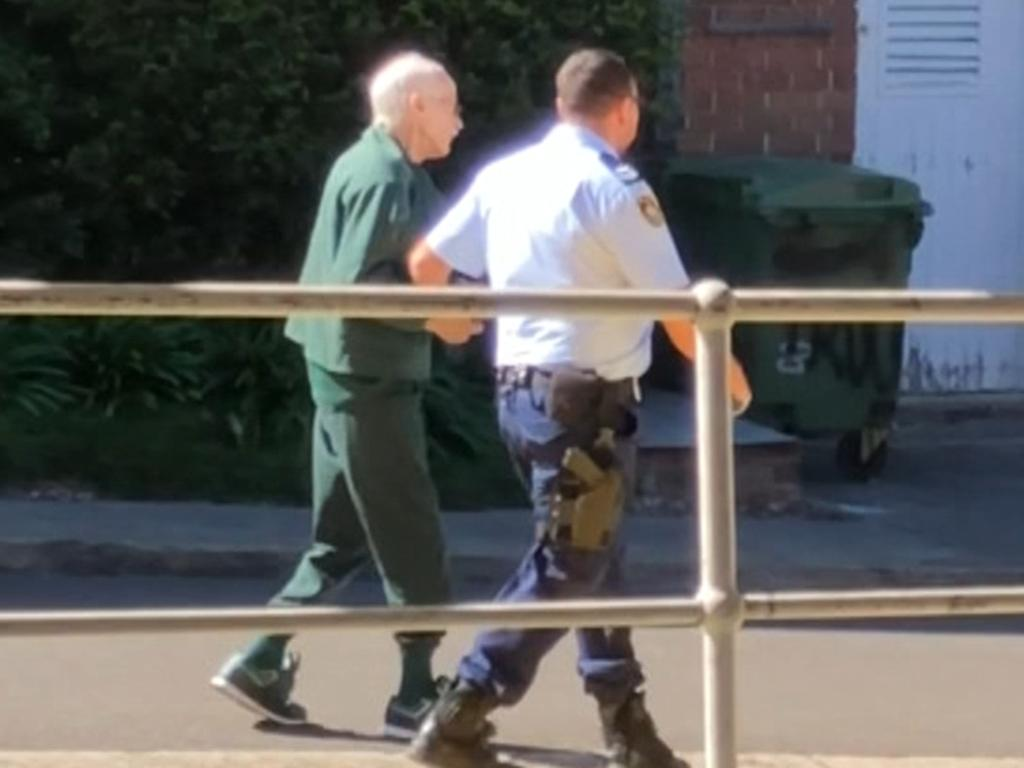 A frail Ivan Milat leaving Prince of Wales Hospital earlier this year. Picture: 7 News