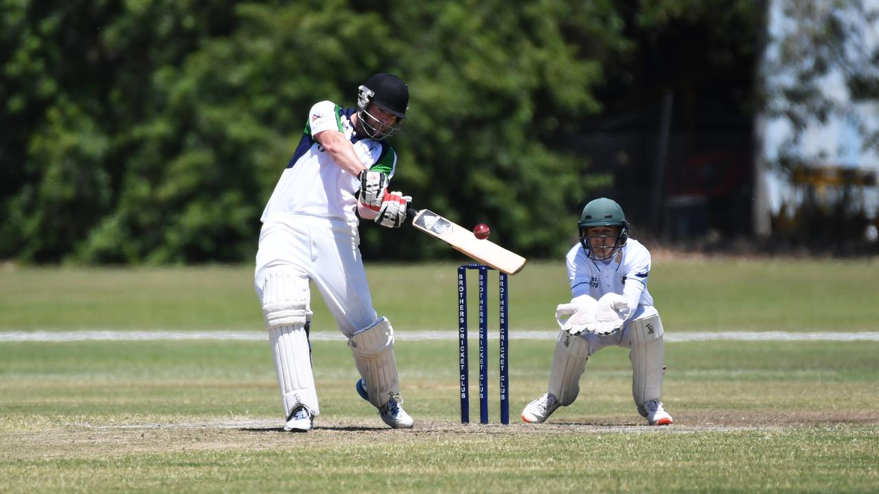HITTING OUT: Rockhampton Brothers' Bevan Moyes top scored with 29 as his team went on to make 8/144 against Gracemere on Saturday.