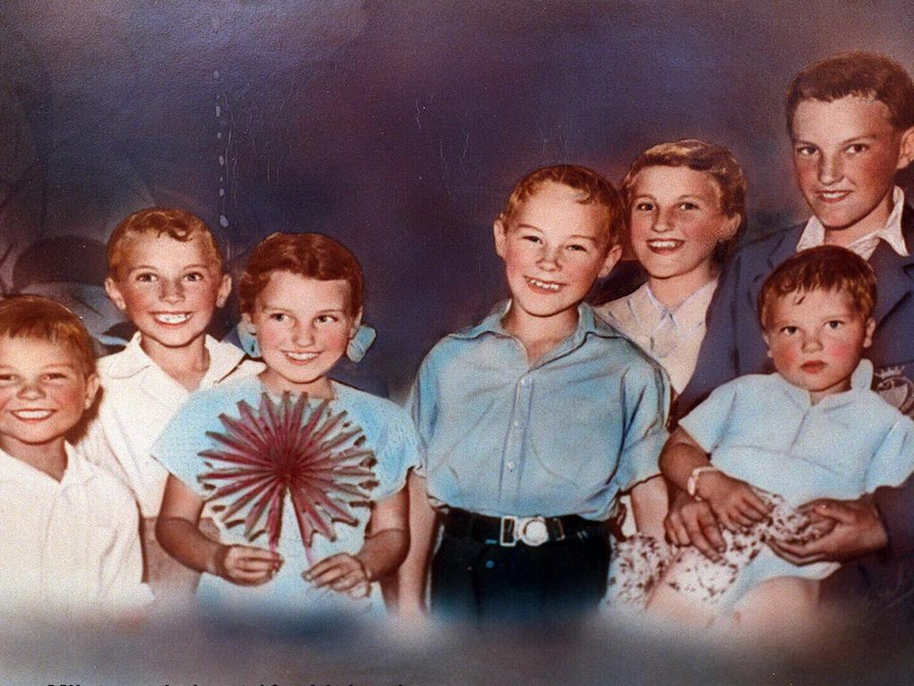Ivan Milat, aged 10 in 1954 with his brothers and sisters, William, Shirley, Mary Alexander, and Walter at their Moorebank home.