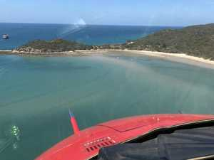 Helicopter rescue from CQ Island