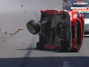 V8 iceman rushes to aid of rival after huge crash