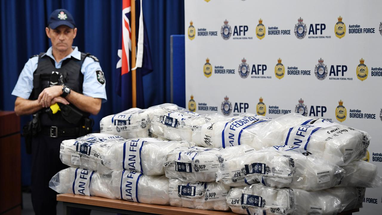 AFP officers intercepted more than $100 million worth of ice disguised as tea in May last year. Picture: AAP Image/David Moir