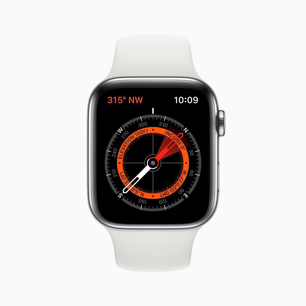 COMPASS: Apple Watch Series 5 includes a very clever compass.