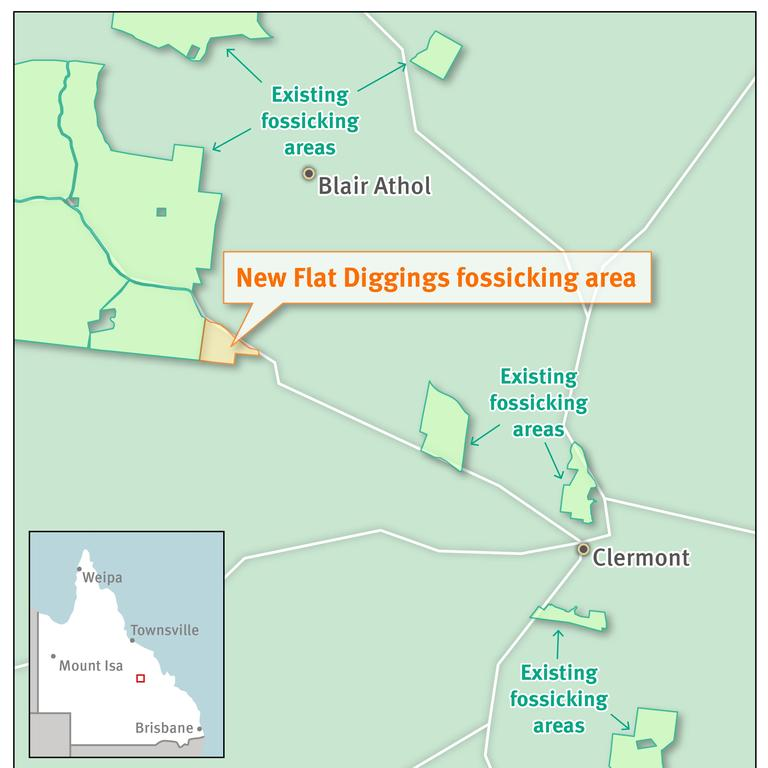 Gold prospectors have another 181 hectares of Central Queensland to explore, at the Flat Diggings fossicking area 15km north-west of Clermont.