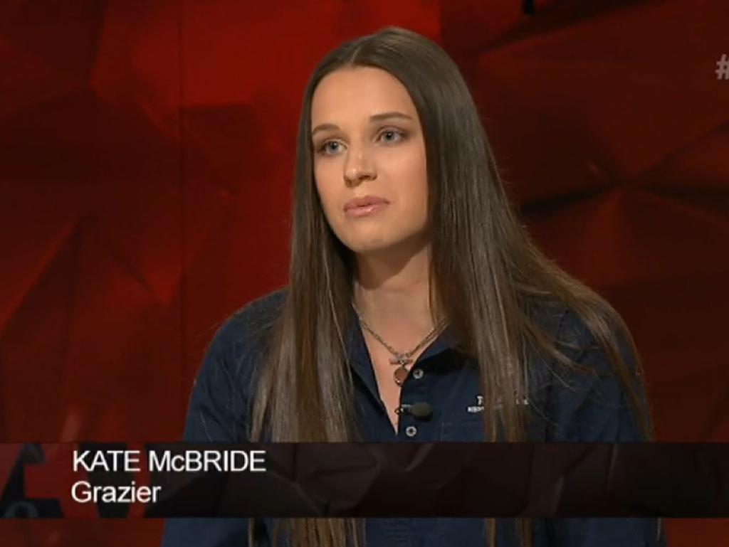 Kate McBride. Picture: Q & A