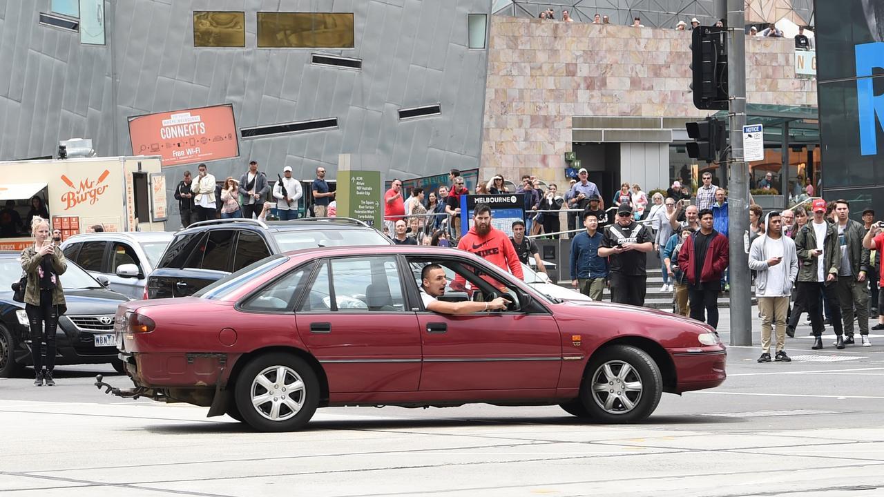 James Gargasoulas hit multiple people, killing six, after this photo. Picture: Tony Gough
