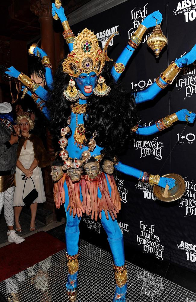 Kali, the Hindu Goddess is definitely one of Klum's more frightening looks. Picture: AP.