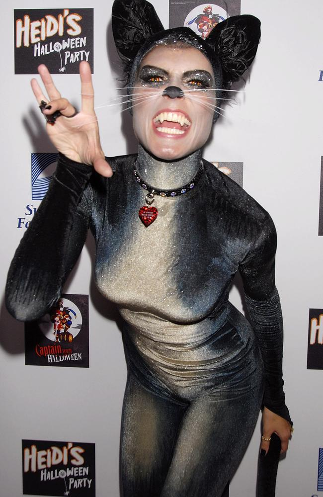 Looking like a Cats cast member, 2007 saw her opt for a very different shape from the apple costume. Picture: Getty Images.