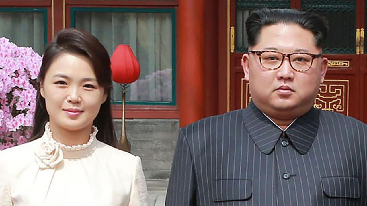 Rumours are swirling that North Korean leader Kim Jong-un's wife Ri Sol Ju is expecting. Picture: AFP Photo/KCNA via KNS