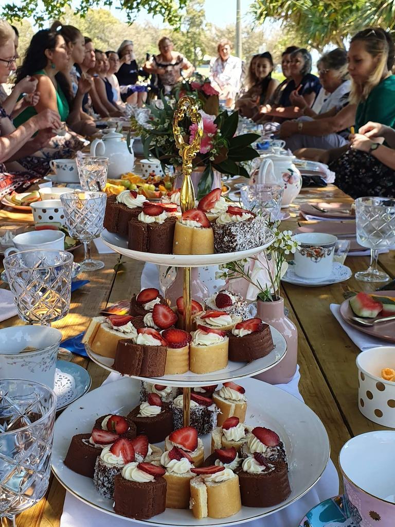 Guests enjoyed the high tea picnic at Spinnaker Park