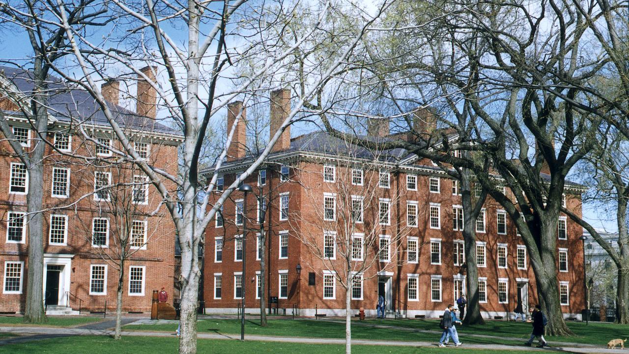 Campus of Harvard University, Cambridge, Massachusetts.