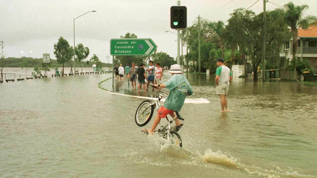February 9, 1999, was just one of many occasions the Maroochy River has broken its banks. lnsurers warn putting the brakes on increasing premiums can come only through investment by governments in mitigation and smarter future land-use planning.
