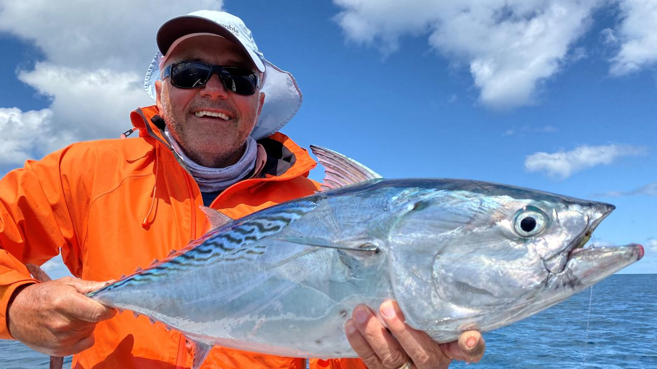 This mac tuna was no match for Ron Conrad while out fly fishing in the Sandy Strait.