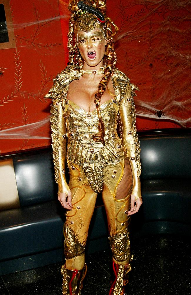 After Betty, she took it up a notch with this all-gold get up. Picture: Getty Images.