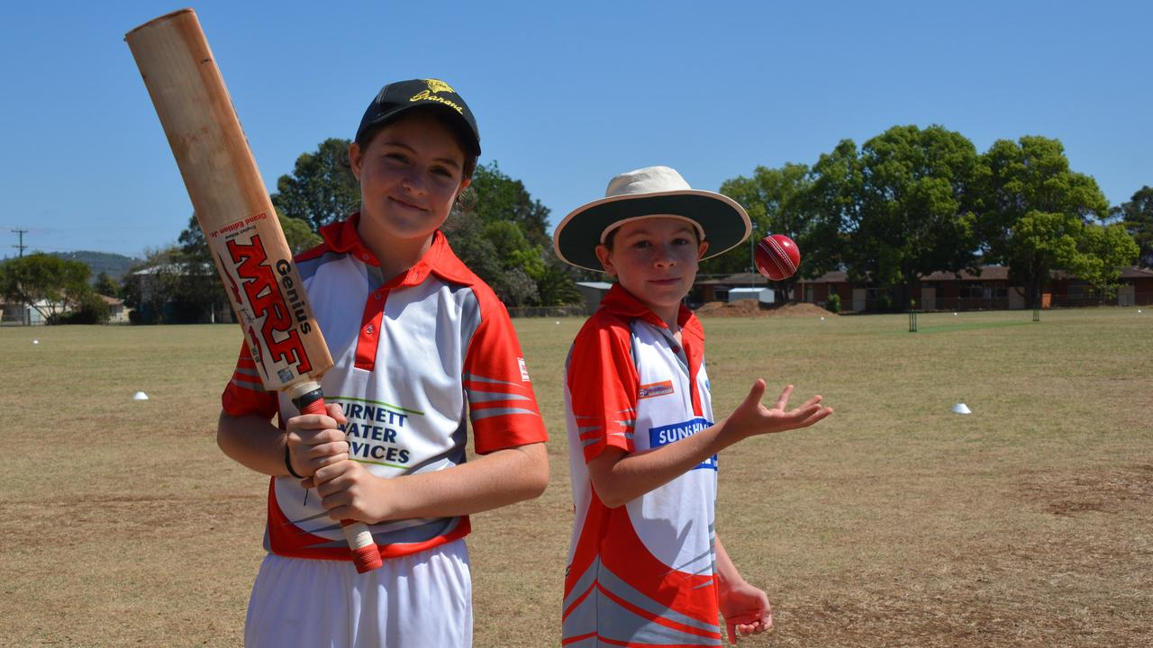 BUDDING CRICKETERS: Under 13s players Kingaroy Burnett Waters' Charlotte Love and Kingaroy Mitre 10s Cornelius Curtain show skill at the pitch. (PHOTO: Jessica McGrath)