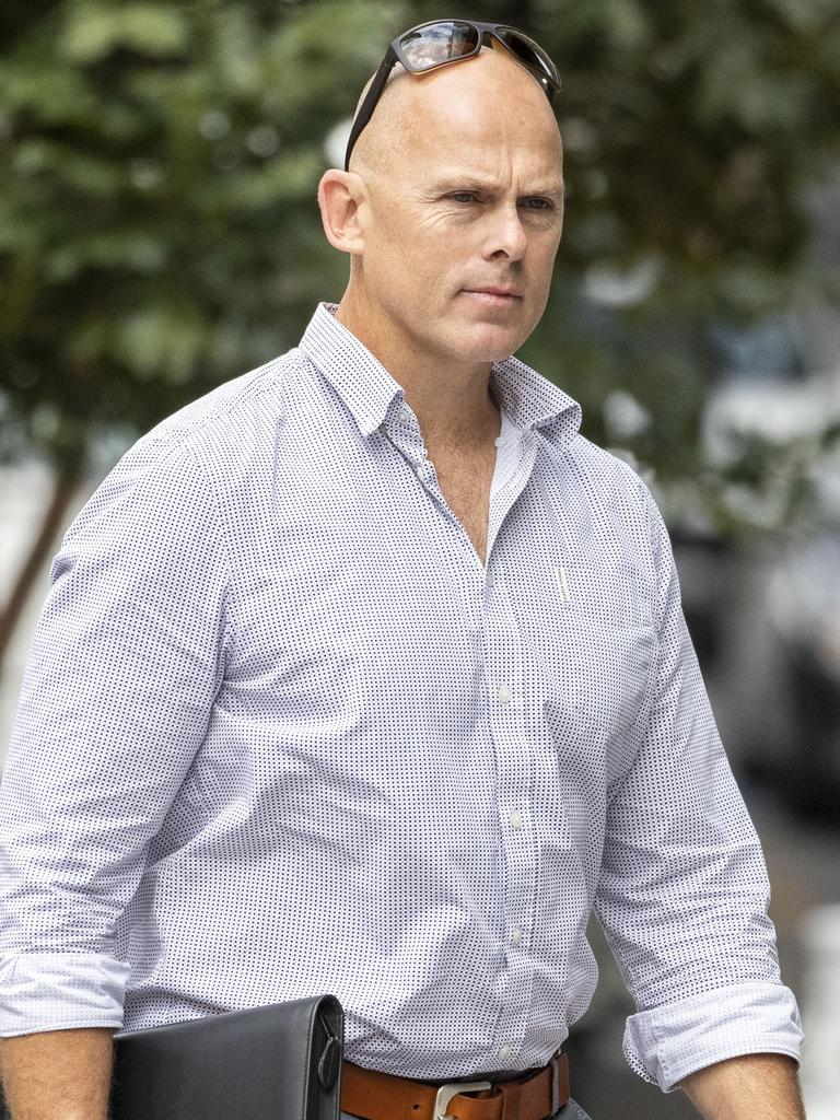 Matthew McCallum arrives at Brisbane District Court today. Picture: Glenn Hunt/AAP