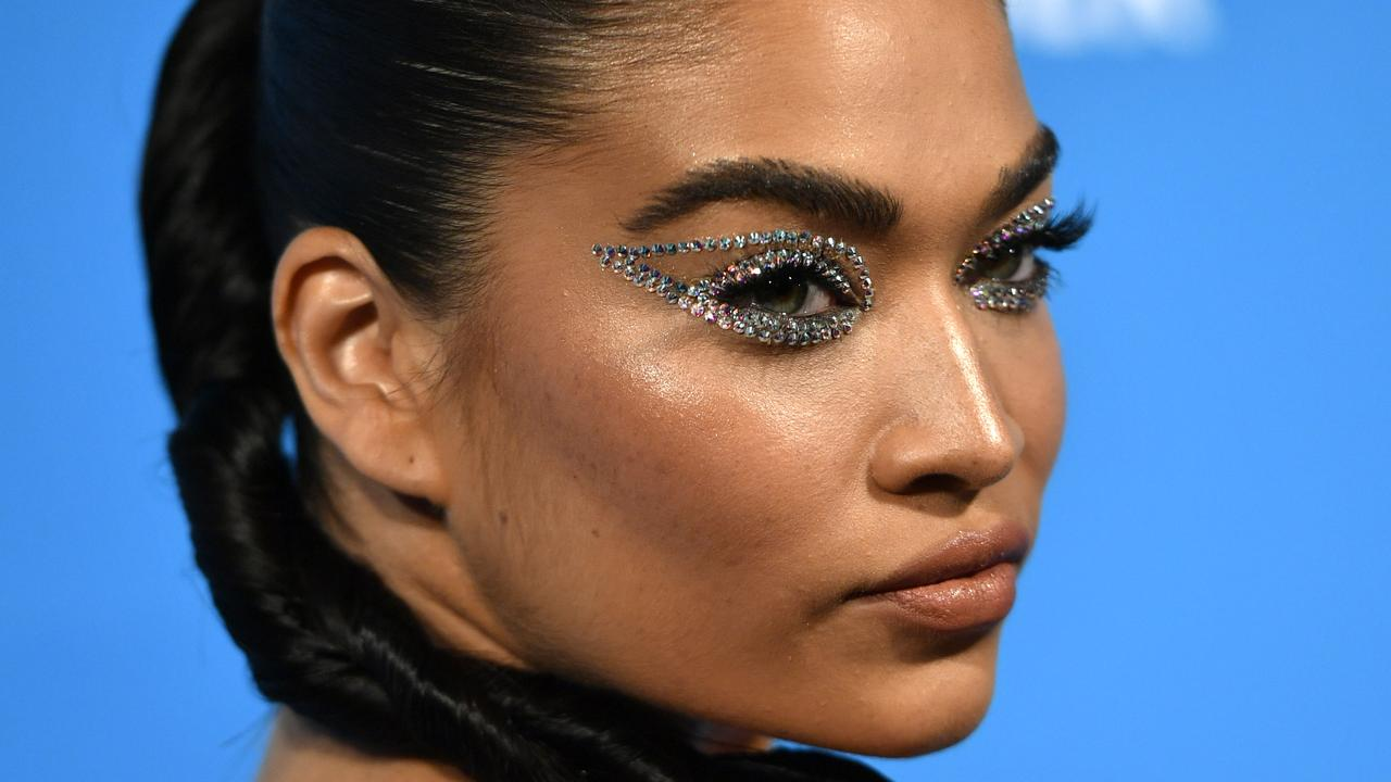 Ready for her close-up! Australian model Shanina Shaik attends the UNICEF Masquerade Ball. Picture: Getty Images