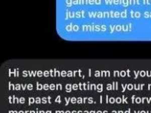 Woman floored by unbelievable text