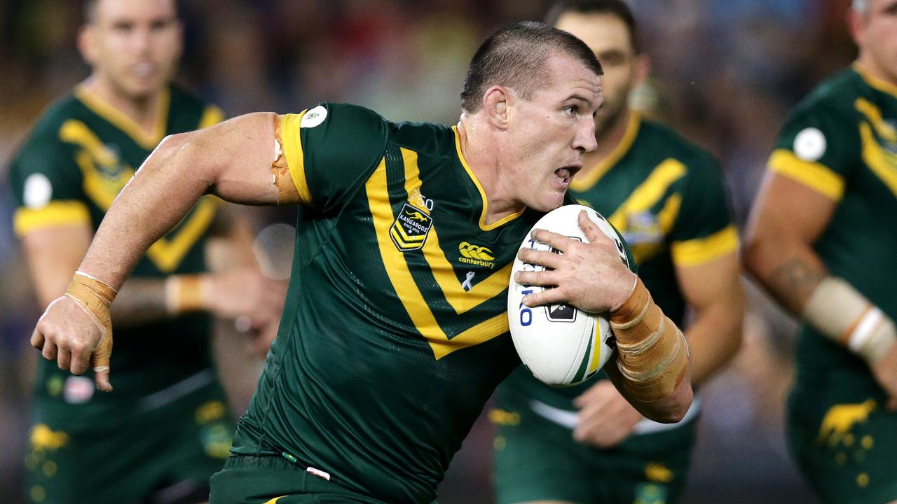 Paul Gallen starred for the Kangaroos in their 2016 win over New Zealand.
