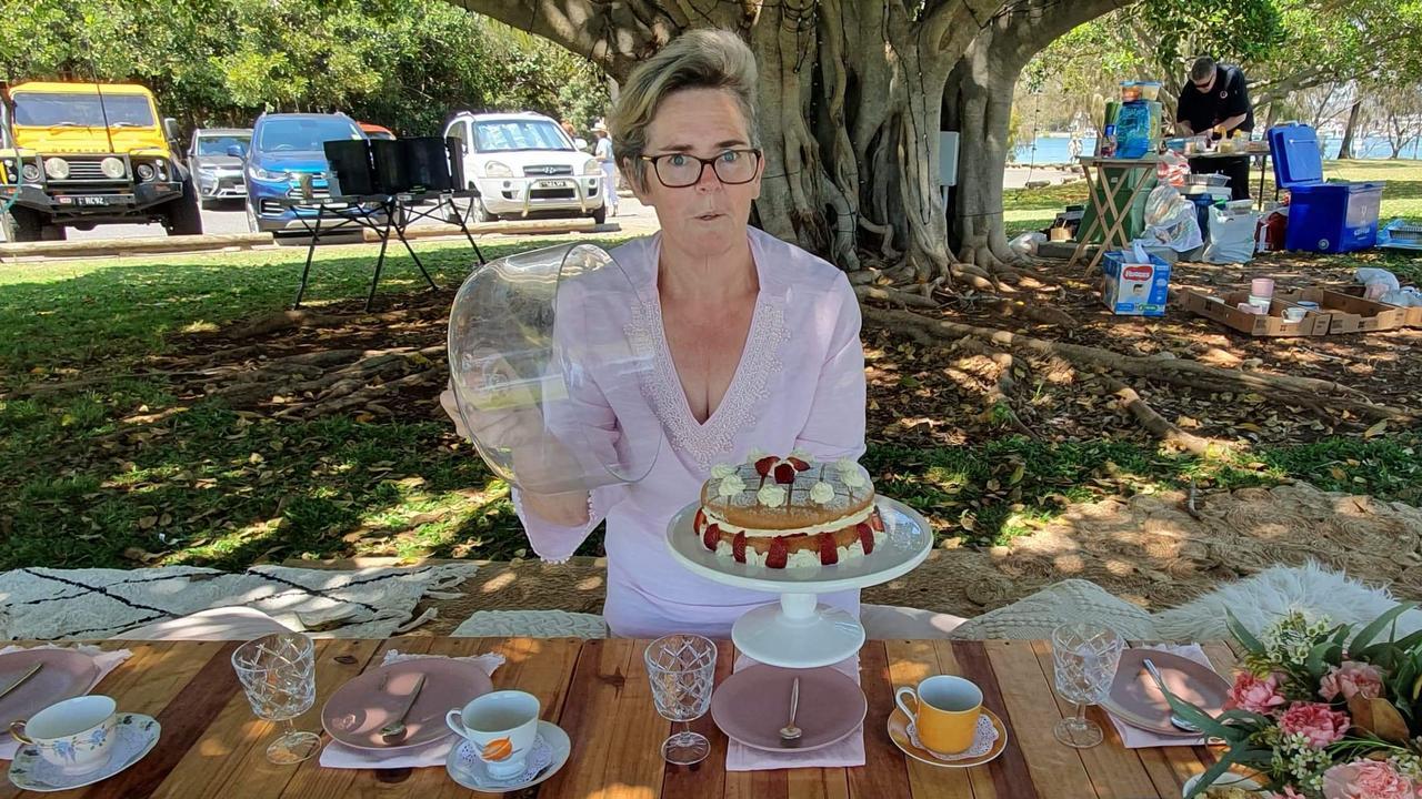 Helene Macey raised funds with a high tea picnic.