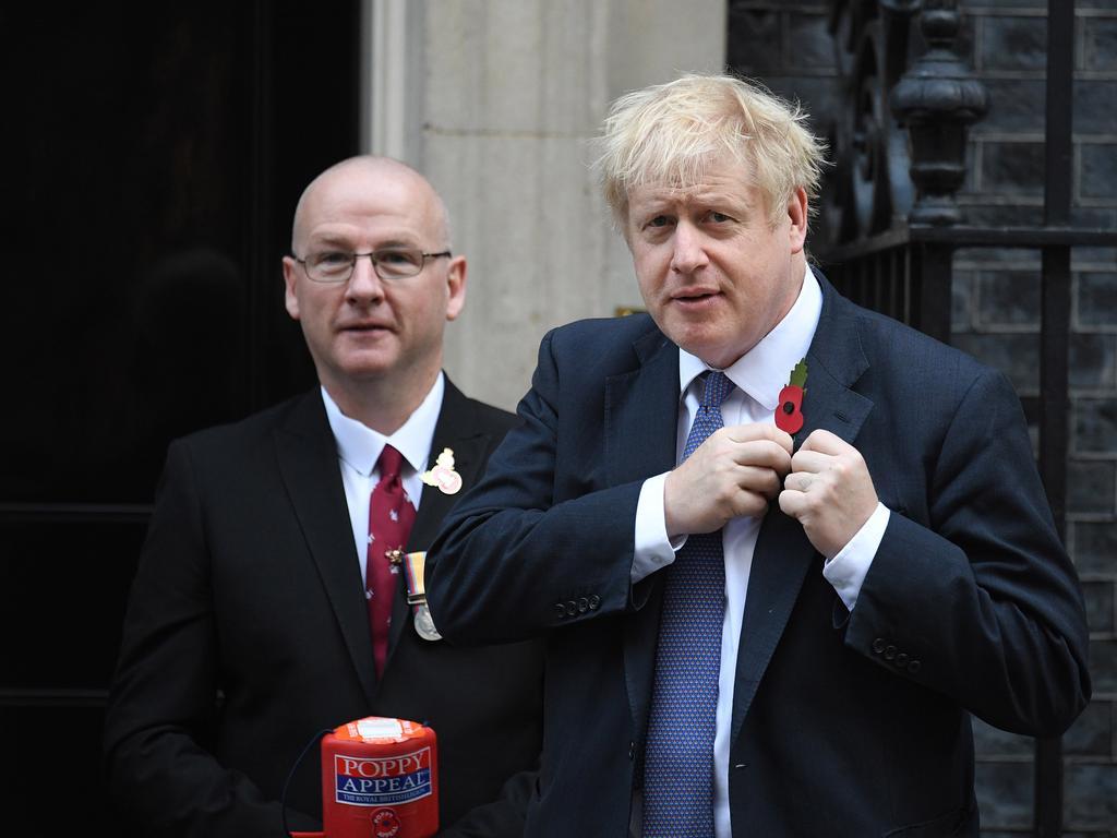 Prime Minister Boris Johnson outside 10 Downing Street.