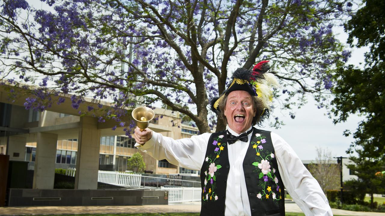 Toowoomba town crier Kevin Howarth has been recorded as having the loudest cry in the world after the Australian Guild Championship and World Invitational Town Crier awards in Victoria. Picture: Kevin Farmer