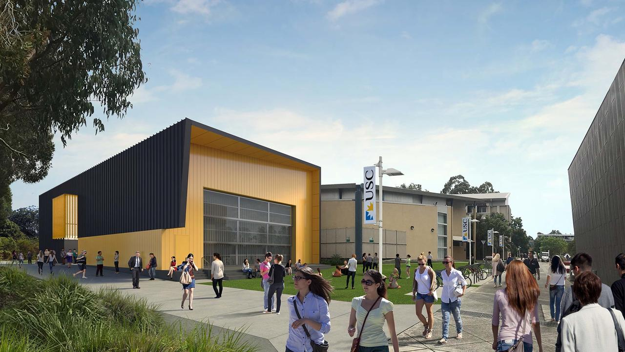 Artists impressions of the Creative Industries facility under construction at the University of the Sunshine Coast.