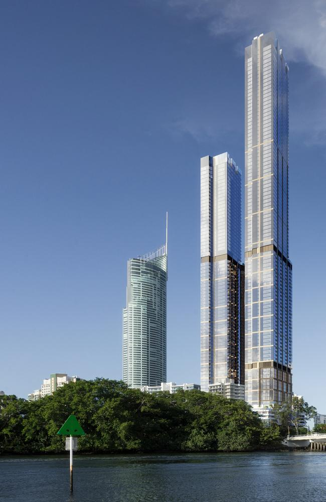 The towers, if built, would dwarf Q1.