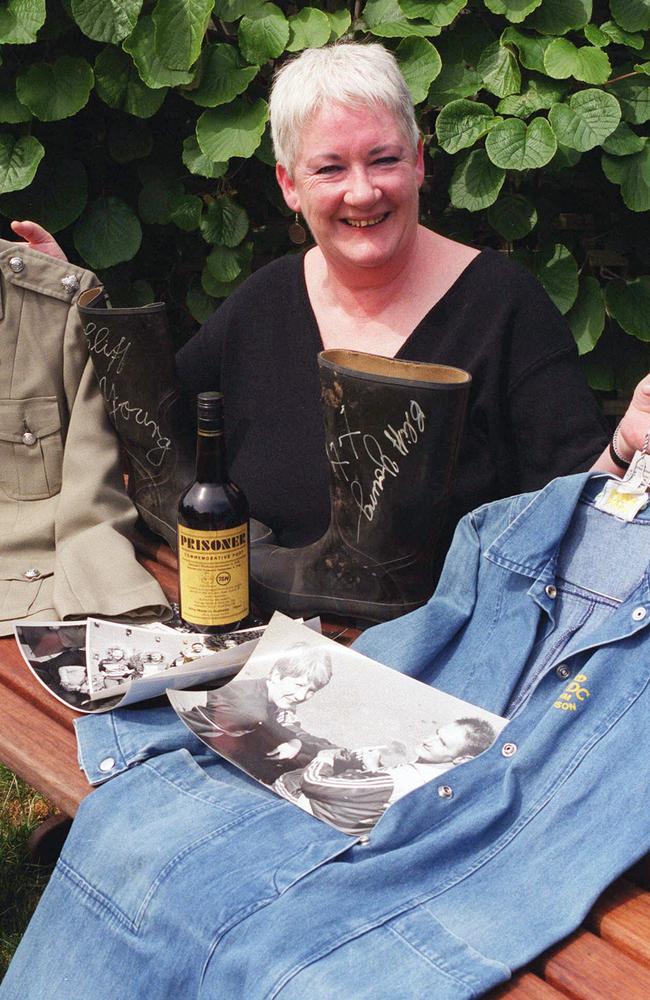 Anne Phelan, with 'Prisoner' memorabilia in 1999.