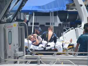 FIRST PHOTOS: Backpacker loses foot in shark attack