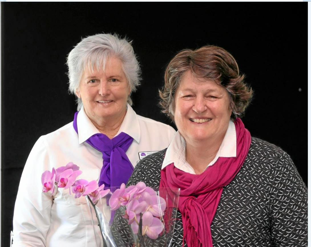 HEALTHY AGEING: President of Older Womens Network (OWN) at recent meeting in Gympie with guest speaker Dr Prue Millear.