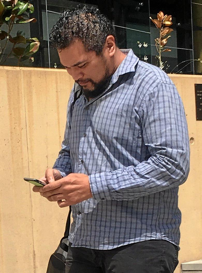 DIRTY MONEY: Sakariah Peniamina leaves Ipswich Magistrates Court after admitting to being in possession of $10,000 in tainted cash.