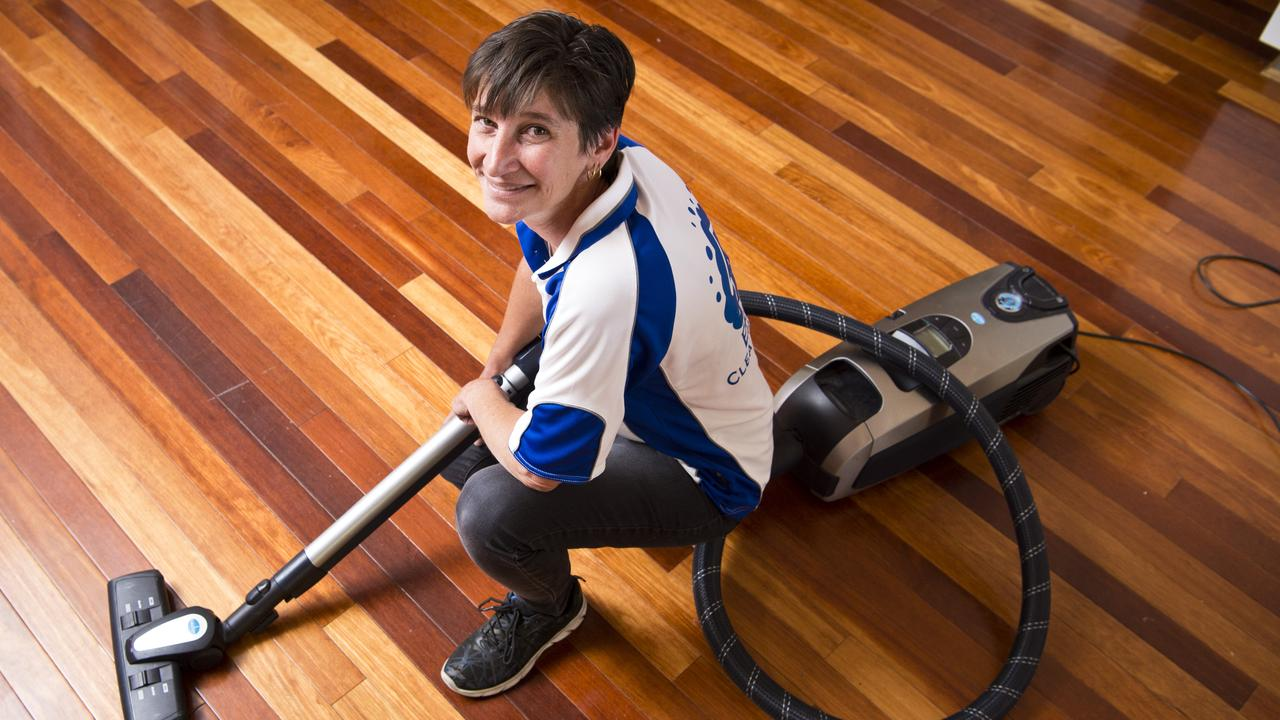 HOUSEHOLD HELP: After battling cervical cancer earlier this year, professional cleaner Sharlene Wyatte is offering to help other cancer patients with their household cleaning. Picture: Kevin Farmer