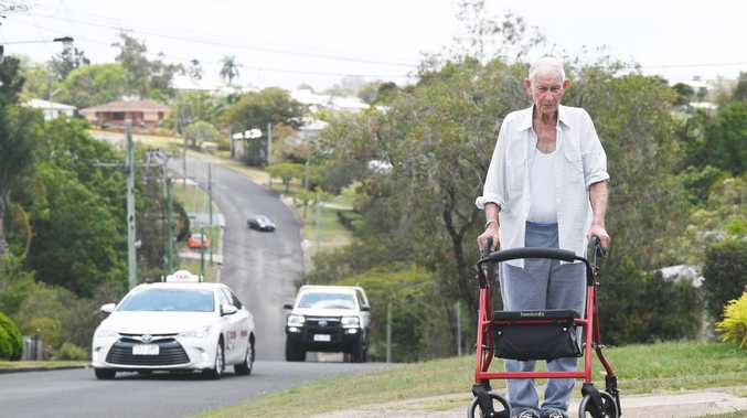 Gympie man just wants a footpath outside home of 90 years