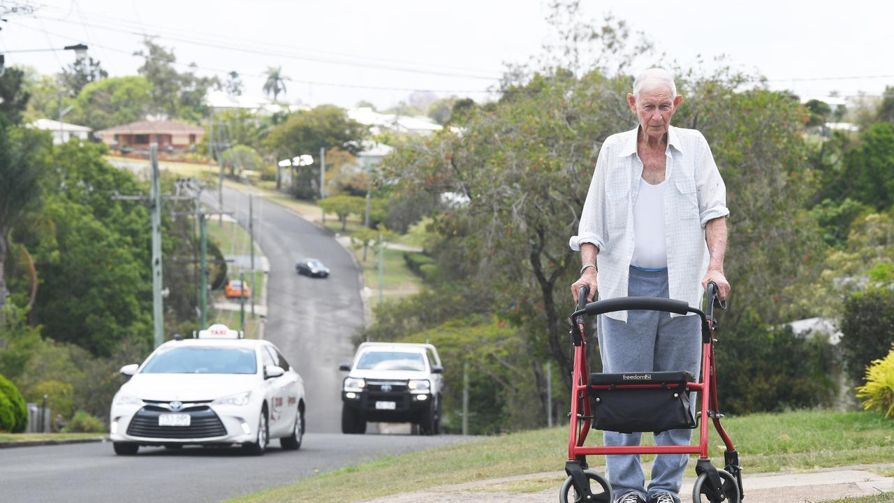 Gympie Resident Jack Murray wants a footpath on garrick and Musgrave streets so he and other residents don't have to walk on the road to get around.