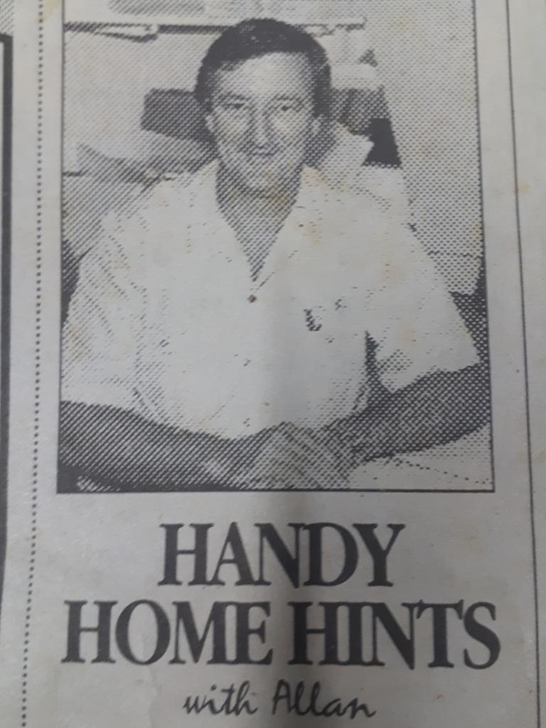 Alan Stevens' 'handy hints' featured in the former Sarina Midweek newspaper.